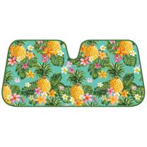 BDK AS-773 Pineapple Front Windshield Shade-Accordion Folding Auto Sunshade for Car Truck SUV-Blocks UV Rays Sun Visor Protector-Keeps Your Vehicle Cool-58 x 28 Inch