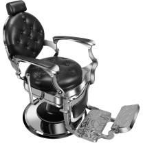 Baasha Classic Barber Chairs Black Heavy Duty Barber Chairs Hydraulic Reclining Salon Chair Extra Wide Seat, Recliner Styling Chair Salon Chair Salon Equipment