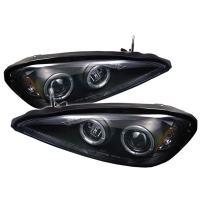 Spyder Auto Pontiac Grand AM Black Halogen LED Projector Headlight