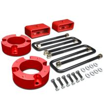 For Tundra 2WD 4WD Red 3 inches Front + 2 inches Rear Spacers + Blocks Leveling Lift Kit