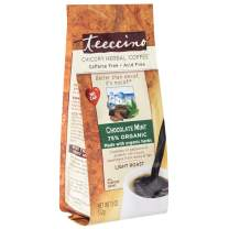 Teeccino Chicory Coffee Alternative - Chocolate Mint - Herbal Coffee | Ground Coffee Substitute | Prebiotic | Caffeine Free | Acid Free | Light Roast, 11 ounce