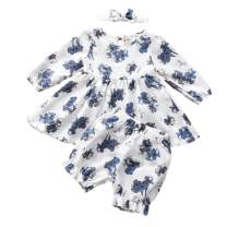 Toddler Baby Girls Ruffle Floral Tunic Dress Top Shorts Outfit Spring Summer Clothes Set