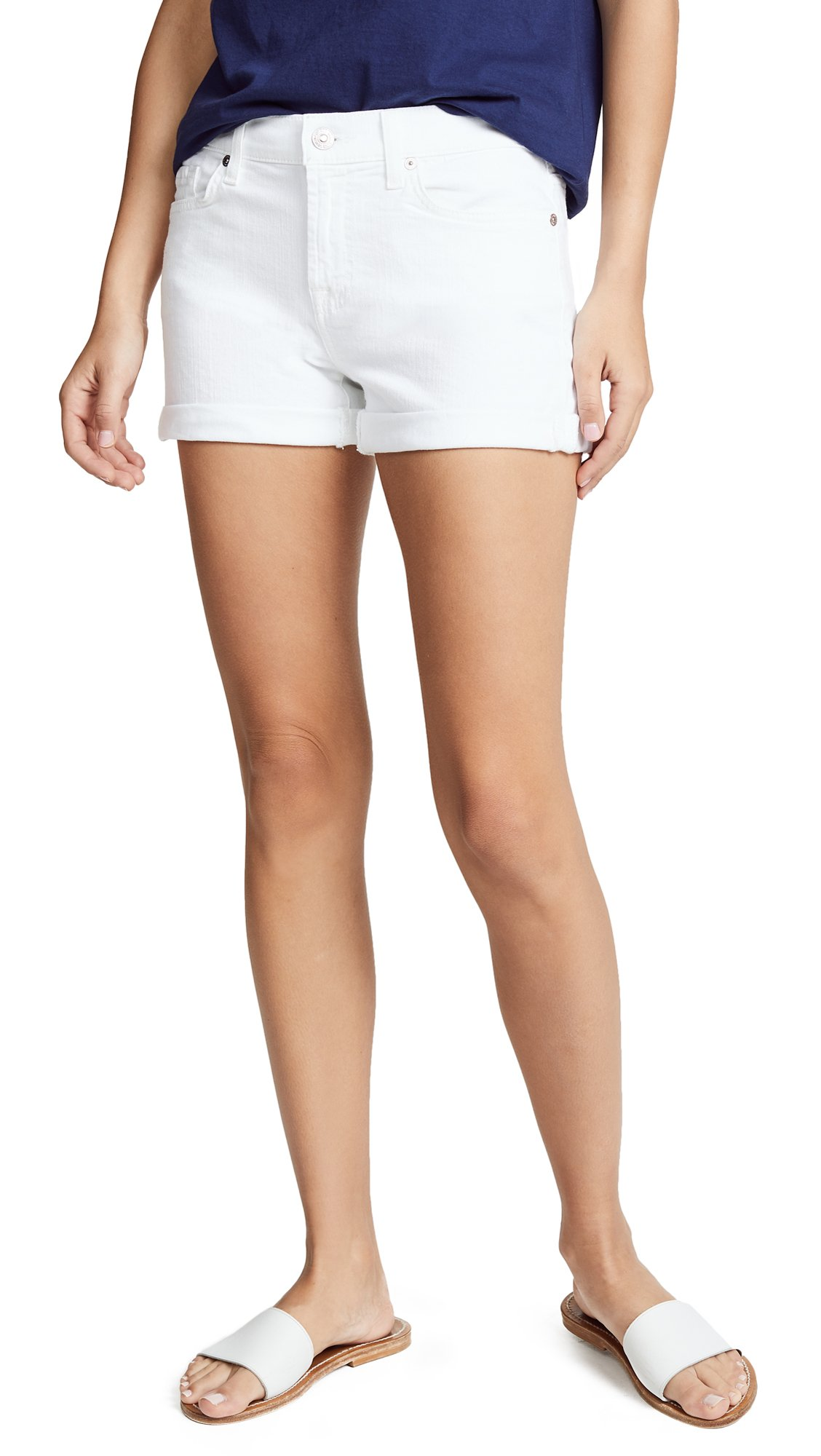 7 For All Mankind Women's Roll Up Shorts