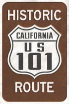 Highway 101, California - Historic Route Sign (24x36 Giclee Gallery Print, Wall Decor Travel Poster)