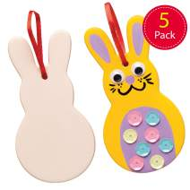 Baker Ross Ceramic Easter Bunnies (Pack of 5) Ready to Paint Easter Bunny Crafts Decorations for Kids