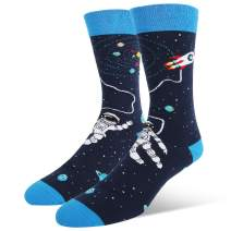 Zmart Men's Funny Alien Space Ufo Socks, Crazy Astronaut Bigfoot Sasquatch Design