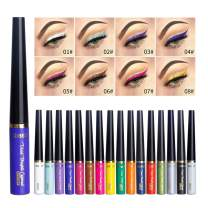 Coosa Matte Liquid Eyeliner 16 Colors Long Lasting Waterproof High Pigmented Eyeliner Professional Colorful Eyeliner Pen Set - 16 PCS