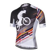 JPOJPO Men's Cycling Bike Jersey Short Sleeve, Pro Team Breathable Quick-Dry Skull Tops