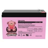 Charity Battery 12V 7Ah CB1270 Rechargeable SLA Sealed Lead Acid Replacement Battery