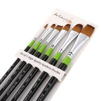 Art Embraced 6 Piece Artist Brush Set, Synthetic Paint Brushes for Watercolor, Acrylic, Gouache Painting, Non-Shedding Quality, Face and Body Paint Brushes
