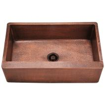 913 Single Bowl Copper Apron Sink, Sink Only