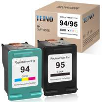 TEINO Remanufactured Ink Cartridge Replacement for HP 94 95 use with HP OfficeJet 100 H470 7310 7410 150 7210 Photosmart 8150 8450 2710 DeskJet 460 6540 9800 PSC 2355 (Black, Tri-Color, 2-Pack)