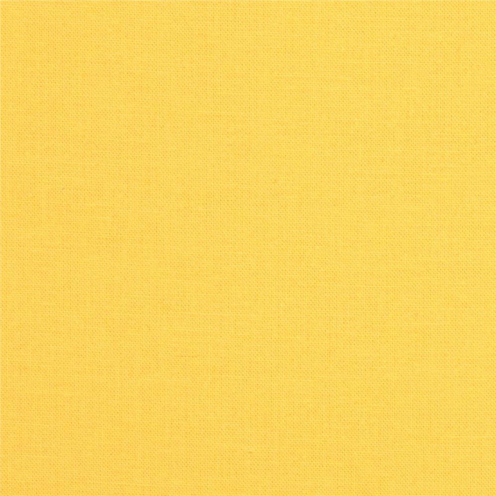 Robert Kaufman Kona Cotton Lemon Fabric By The Yard