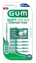 GUM Soft-Picks Comfort Flex Dental Picks, 80 Count