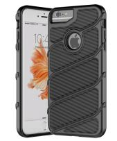 iPhone 7 Case,iPhone 6s Case,Spevert [Carbon Fiber Series] Dual Layer Hybrid Shock Absorption Scratch Proof Slim Protective Case Cover for iPhone 7/6/6s 4.7 inches - Black/Black