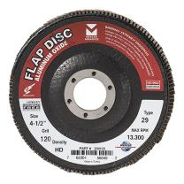 "Mercer Industries 330120 Aluminum Oxide Flap Disc, High Density, Type 29, 4-1/2"" x 7/8"", Grit 120, 10 Pack"