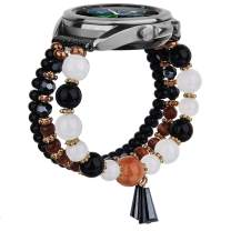 MOFREE Compatible for Galaxy Watch 3 41mm Bands ,20mm Handmade Fashion Elastic Beaded Strap Bracelet Replacement Compatible for Samaung Galaxy Watch 3 41mm Band Women Girl