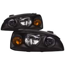 HEADLIGHTSDEPOT Halogen Headlights Compatible With Hyundai Elantra 2004-2006 Includes Left Driver and Right Passenger Side Headlamps