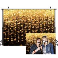 Dudaacvt 7x5ft Gold Bokeh Spots Backdrop for Selfie Birthday Party Pictures Photo Booth Shoot Graduation Prom Dance Decor Wedding Vintage Astract Glitter Dot Studio Props Photography Background D172