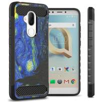 TMobile REVVL 2 Plus Case, Alcatel 7 Case, CoverON Arc Series Modern Protective Phone Case with Shockproof Protection and Carbon Fiber Accents - Van Gogh's Starry Night