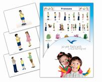 Yo-Yee Flashcards - Pronouns Flash Cards and Sight Words - Vocabulary Reading Picture Cards for Babies, Toddlers 2-4 Years and Kids