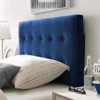 Modway Emily Twin Biscuit Tufted Performance Velvet Headboard, Navy