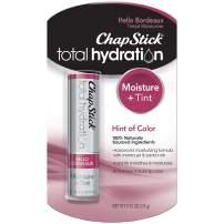 Chapstick Total Hydration Tinted Moisturizer, 100% Natural Lip Color & Lip Treatment, 0.12 oz (Hello Bordeaux Tint, 1 Blister Pack of 1 Stick)