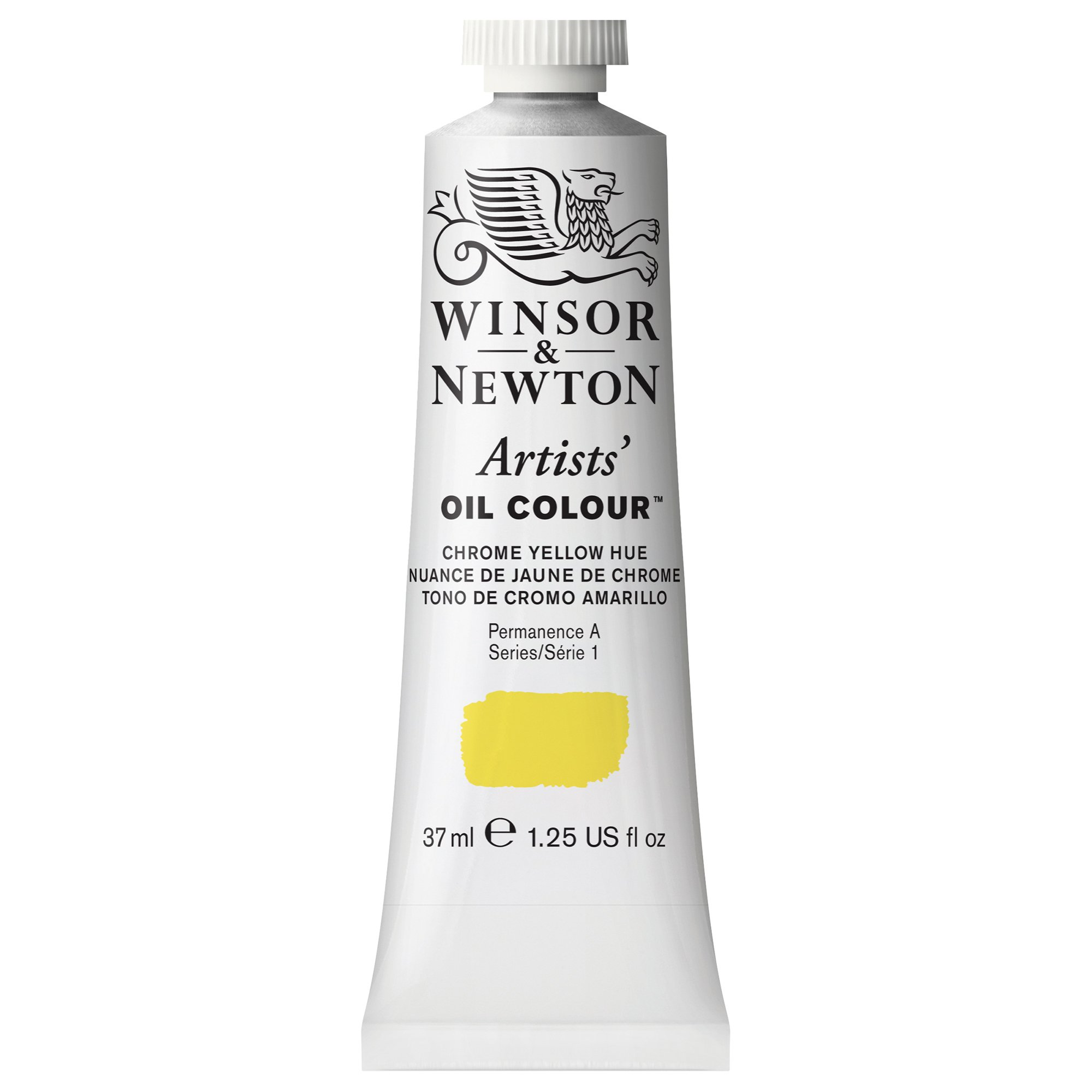 Winsor & Newton Artists' Oil Colour Paint, 37ml Tube, Chrome Yellow Hue
