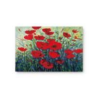 """FAMILYDECOR Doormat for Entrance Way Indoor/Bathroom/Front Door Area Floor Mat Rugs Rubber Non Slip Waterproof Absorb Kitchen Runner Carpet, Red Poppy Flowers Oil Painting Art Design (32""""x20"""")"""