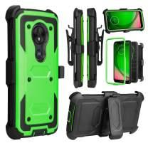 Venoro Moto G7 Play Case, Moto G7 Optimo Case, Heavy Duty Shockproof Full Body Protection Case Cover with Swivel Belt Clip and Kickstand for Motorola Moto G7 Play/Moto G7 Optimo (Green)