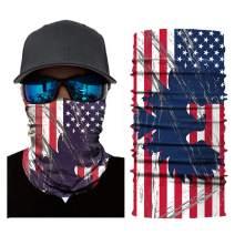 American Flag Face Mask Breathable Reusable Bandana Cycling Neck Gaiter Headband