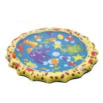 """LEPOWERP Sprinkle & Splash Play Mat, 39"""" Sprinkler for Kids Outdoor Water Toys Fun for Boys Girls Children Outdoor Party Sprinkler Toy Splash Pad"""