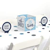 Big Dot of Happiness It's Twin Boys - Blue Twins Baby Shower Centerpiece and Table Decoration Kit