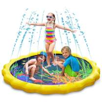 Keten Sprinkler for Kids, Sprinkle & Splash Pad 68'' Outdoor Party Sprinkler Splash Pad for Learning, Inflatable Water Toys for Infants Toddlers and Kids