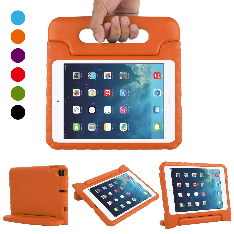 CAM-ULATA New iPad Mini 5th Generation 2019 Case Kids Soft Durable Shockproof Convertible Handle Light-Weight Kid Friendly Protective Case Cover for iPad Mini 4 2015 Mini 5 2019,Orange