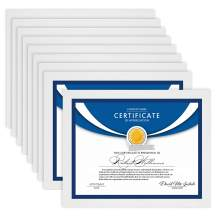 Icona Bay 8.5x11 Diploma Frames (White, 12 Pack), Sturdy Wood Composite Certificate Frame, Sleek Document Frame Bulk, Table Top or Wall Mount, Exclusives Collection
