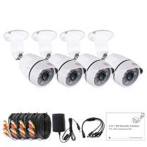 [Upgrade] Tonton 4 Pack 1080P 4-in-1 CCTV HD Security Analog Bullet Camera Outdoor,Supports HD TVI/CVI/AHD/CVBS Model,Aluminum Metal Housing,90° Viewing Angle,Suitable for DVR Recorder