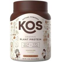 KOS Organic Plant Based Protein Powder – Raw Organic Vegan Protein Blend, 1.3 Pound, 15 Servings (Chocolate)