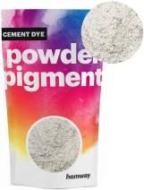 Hemway Cement Dye Powder Pigment Concrete Color Render Mortar Pointing Powdered Brick Toner Plaster (50g / 1.75oz, Metallic Chalk White)