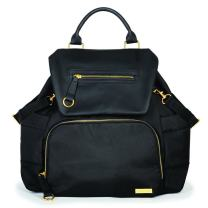 Skip Hop Diaper Bag Backpack With Matching Changing Pad, Chelsea Downtown Chic, Black