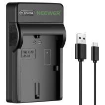 Neewer Slim Fast Micro USB Battery Charger for Canon LP-E6 Battery, EOS 6D, 7D, 60D, 70D, 80D, 5Ds, 5D Mark II, EOS 5D Mark III, 60DA SLR Digital Cameras,Multi Charging Option