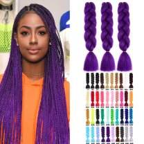 CXYP 24 Inch Synthetic Braiding Hair 3pcs/lot Afro Jumbo Braiding Hair Extensions 100g/pc Kanekalon Fiber for Twist Braiding Hair