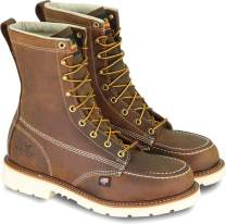"Thorogood Men's American Heritage 8"" Moc Toe, MAXWear 90 Safety Toe Boot"