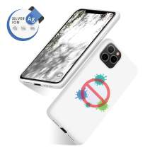 abitku iPhone 11 Pro Max Case, Silicone Antimicrobial Gel Rubber Case Anti-Scratch Microfiber Lining Shockproof Full-Body Protective Cover for iPhone 11 Pro Max 6.5'' (White)