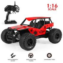 RC Car, 2019 Newest RC Cars Off-Road Remote Control Car Trucks Vehicle 2.4Ghz 2WD Powerful 1:16 Scale High Speed Remote Control Car, Electric Toy Car for All Adults & Kids