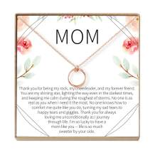 Mom Necklace - Heartfelt Card & Jewelry Gift for her Birthday, Holidays & More