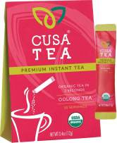 Cusa Tea: Premium Instant Tea - Single-Serve Packets - 100% Organic - Real Fruit and Spices - No Artificial Flavors - Make Hot & Cold Tea in Seconds - Oolong 10 Servings