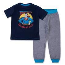 DC Comics Superman Jogger Set - 1 Superman T-Shirt & 1 Superman Sweatpants - Superman Superhero 2 Piece Set