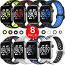 ElaikementSport Band Compatible for Watch Bands 40mm 38mm 44mm 42mm Women Men, Breathable Sporty Replacement Wrist Strap Compatible for Watch Band Series 5/4/3/2/1, All Various Styles, S/M M/L