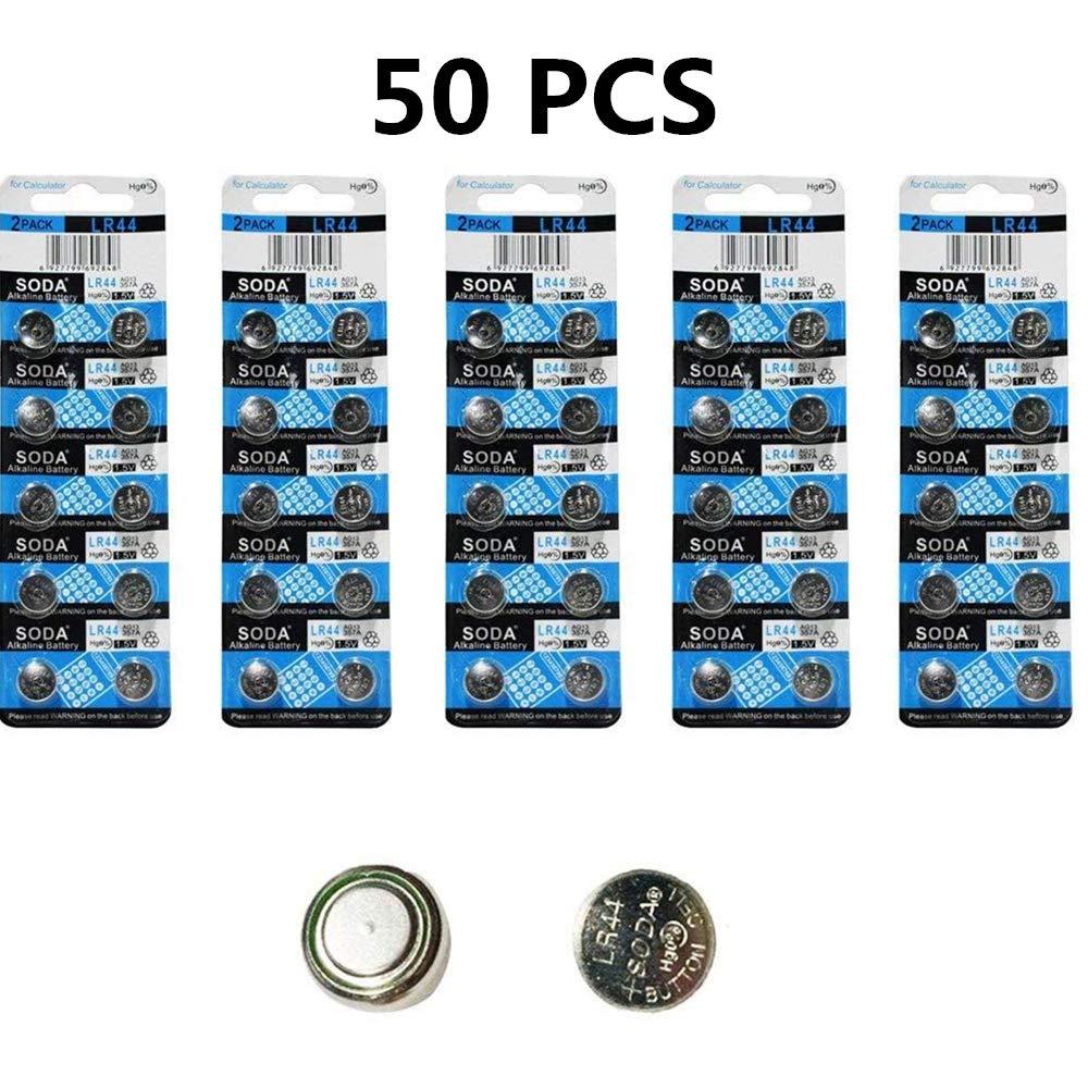 DoDoLightness Battery Alkaline LR44 AG13 Button Cell Batteries 1.5V Button Battery 50PCS
